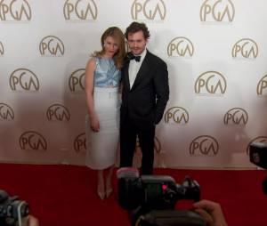 Hugh Dancy et Claire Danes sur le tapis rouge des Producers' Guild Awards en 2013