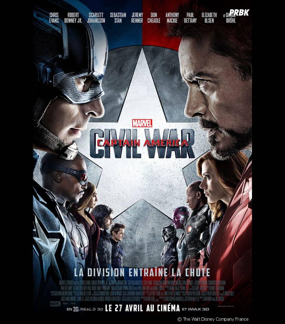 Captain America Civil War : l'affiche du film