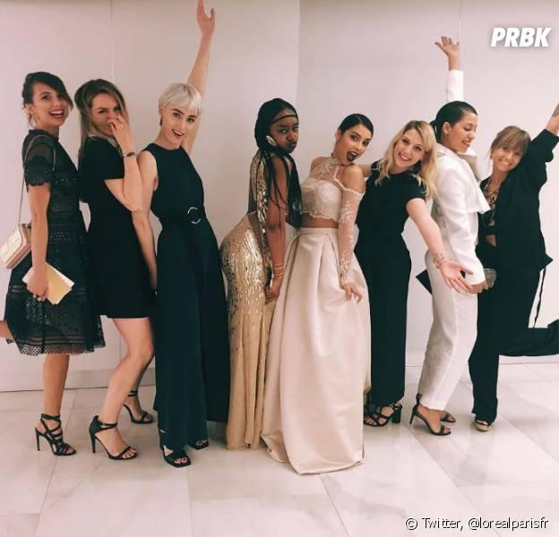 Sananas, Noholita, Fadela Mecheri, BlackBeautyBag, Margot du blog YouMakeFashion, Estelle du blog Estelle Blog Mode, ElsaMuse, Emilie du blog The Brunette et Peekaboo sont à Cannes avec L'Oréal.