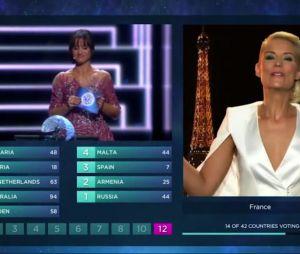 """Elodie Gossuin a fait le buzz avec son """"Youhouhouhouhou"""" lors de l'Eurovision"""