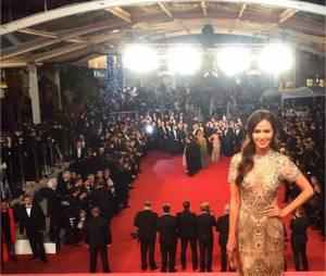 Leila Ben Khalifa monte les marches du Festival de Cannes pour la première fois le 16 mai 2016