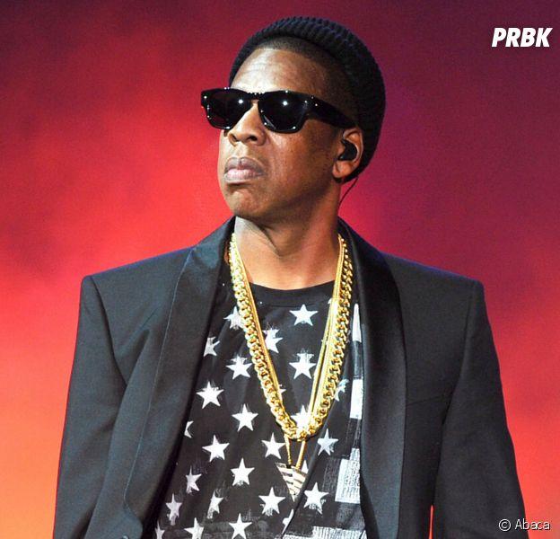 """Jay-Z lors de la tournée """"On The Run"""" en 2014."""