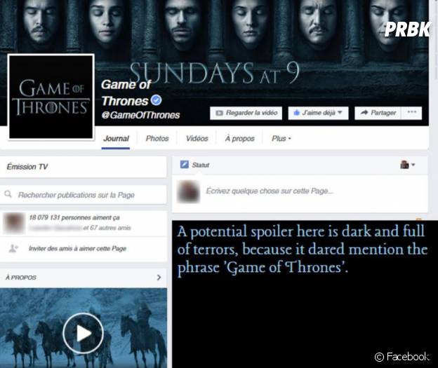 Game Of Spoils - l'extension anti spoiler pour Game Of Thrones