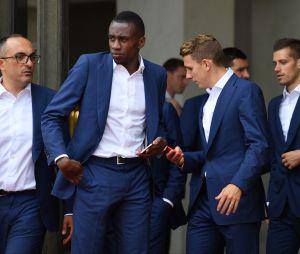 Moussa Sissoko et l'Equipe de France étaient reçus ce lundi 11 juillet 2016 à l'Elysée