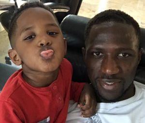Moussa Sissoko et son fils Kaïs, 4 ans