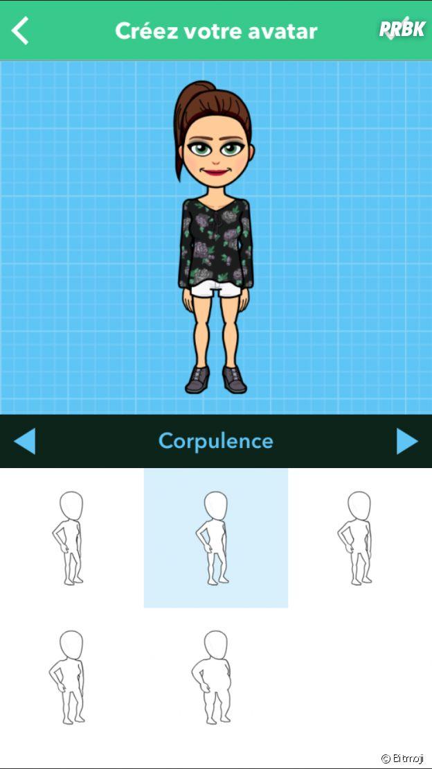 Modifiez la corpulence de votre emoji