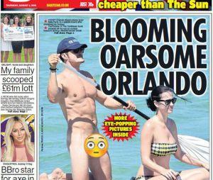 Orlando Bloom nu avec Katy Perry sur la couverture du Daily Star