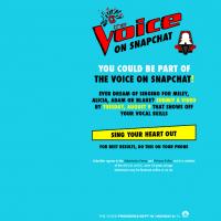The Voice : le télé-crochet bientôt sur... Snapchat !
