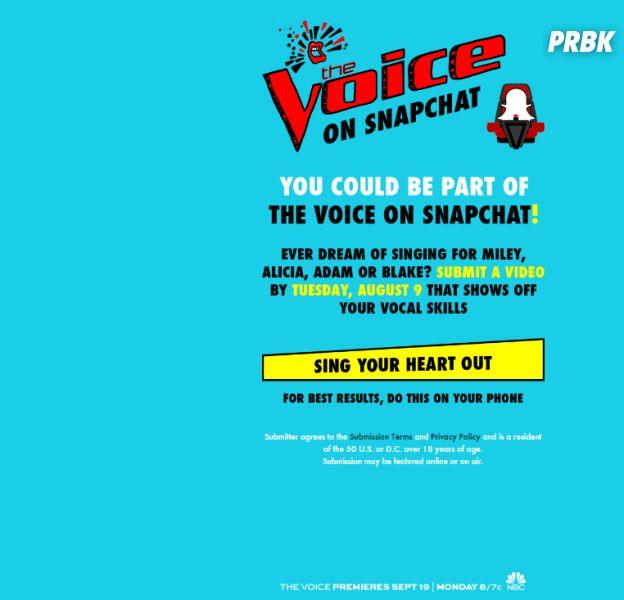 The Voice débarque sur Snapchat !