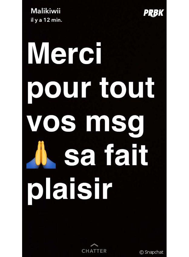 Sarah Fraisou (Les Anges 8) : Malik s'exprime sur leur rupture sur Snapchat