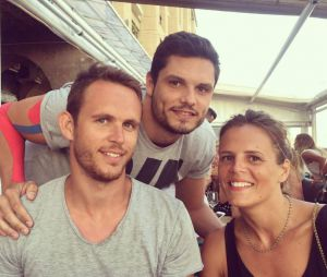Laure Manaudou et ses deux frères, Florent et Nicolas