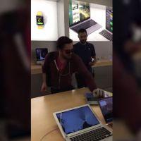 Pétage de plomb : il entre dans un Apple Store et casse tout à l'aide d'une boule de pétanque