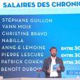 Cyril Hanouna lève le voile sur les salaires des chroniqueurs TV, de Nabilla Benattia à Benoît Dubois en passant par Stéphane Guillon.
