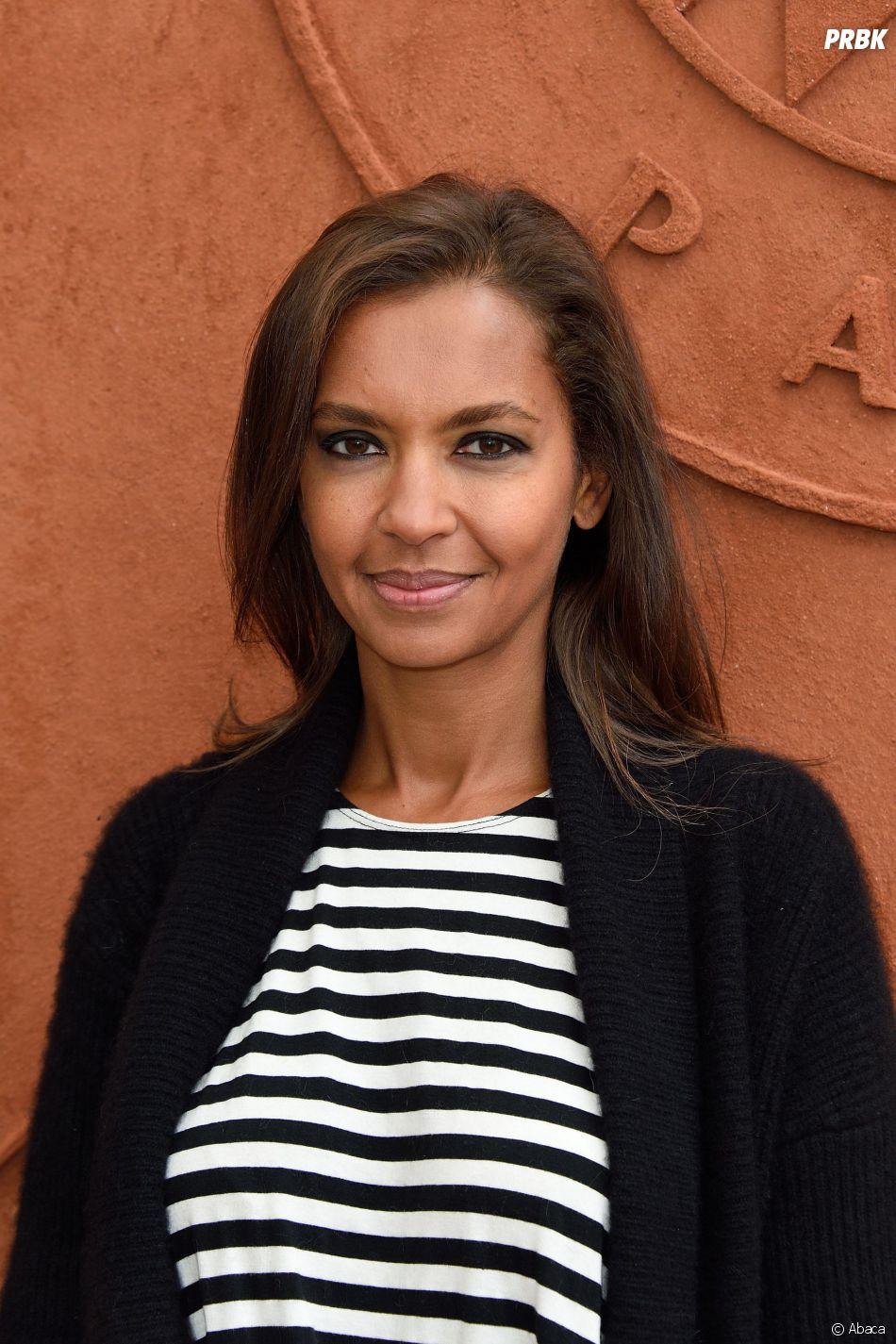 Karine Le Marchand à Roland Garros, le 29 mai 2014
