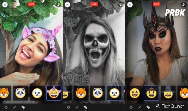 Masks, la nouvelle fonctionnalité de Facebook