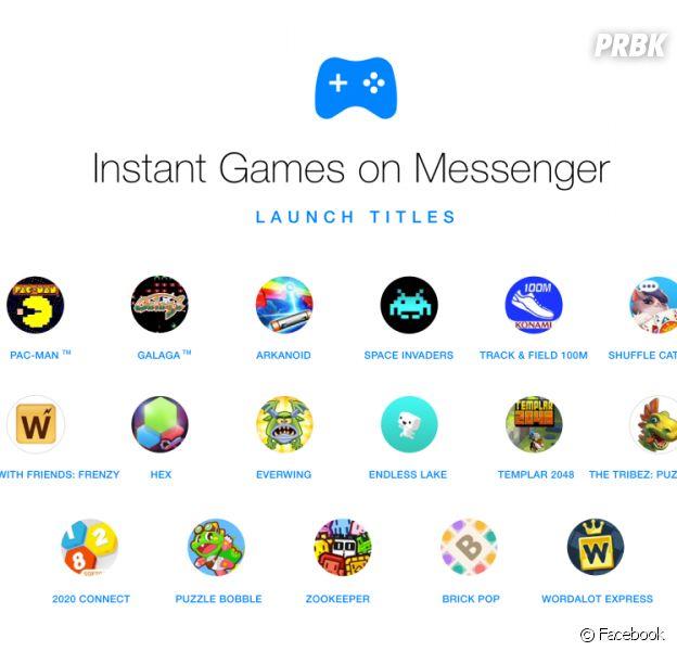 Facebook Messenger intègre 17 jeux gratuits
