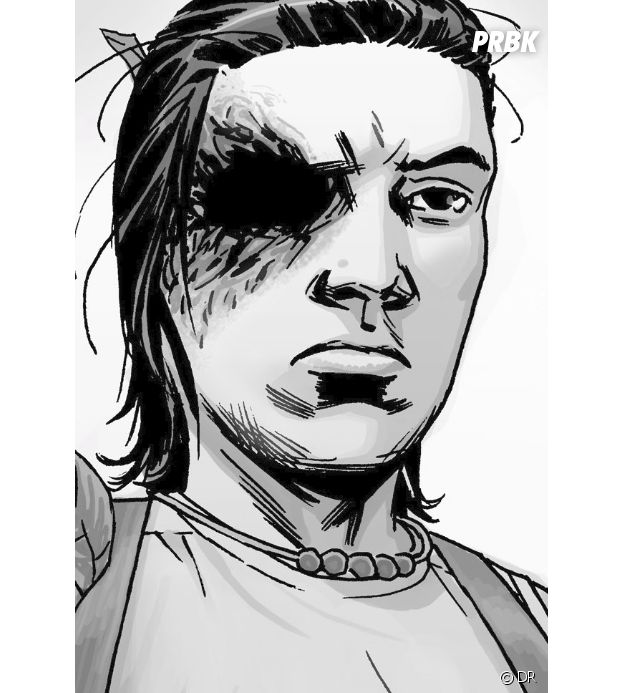 The Walking Dead saison 7 : Carl sans son bandage dans les comics