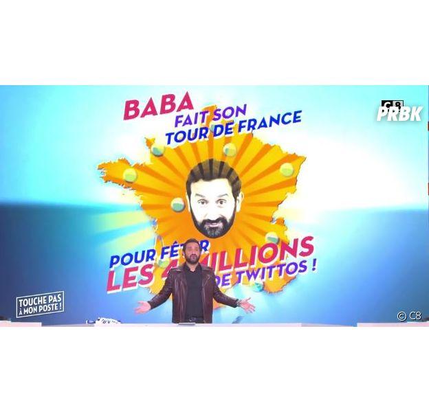 Cyril Hanouna prépare son tour de France de TPMP pour fêter ses 4 millions de followers sur Twitter