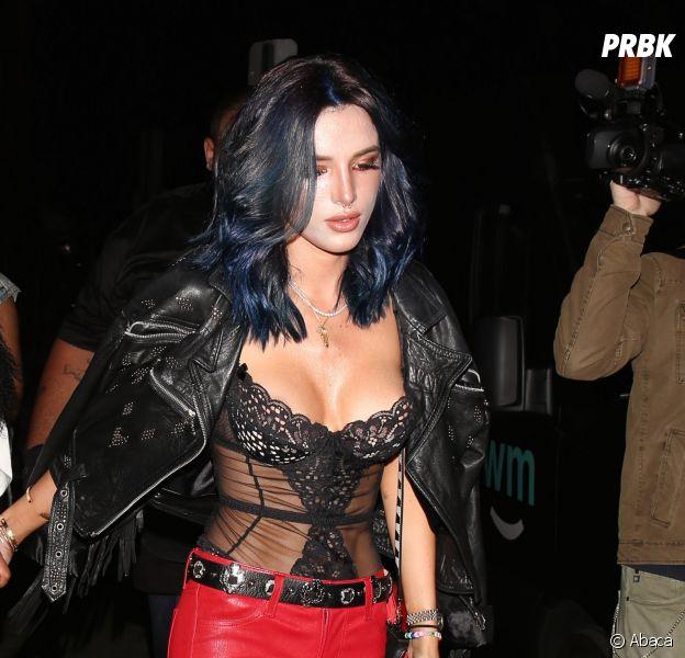 Bella Thorne dévoile sa nouvelle coloration dans les rues de Los Angeles le 28 décembre 2016