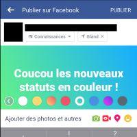Facebook lance les statuts en couleurs... pour concurrencer Twitter ?