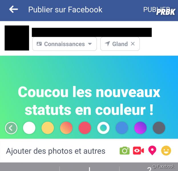 Facebook lance les statuts colorés