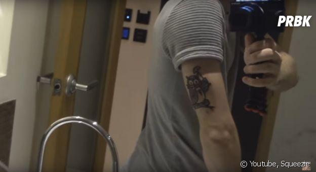 Squeezie dévoile son nouveau tatouage en vidéo !