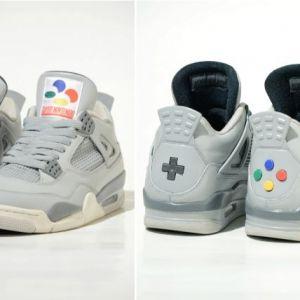 Air Jordan 4 Super Nintendo : les sneakers ultimes avec de vrais boutons de manette !