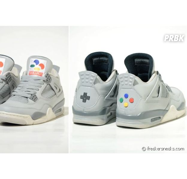 Air Jordan 4 Super Nintendo, les sneakers geek de Freaker Sneaks
