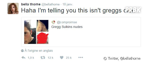 Bella Thorne prend la défense de son ex Gregg Sulkin sur Twitter