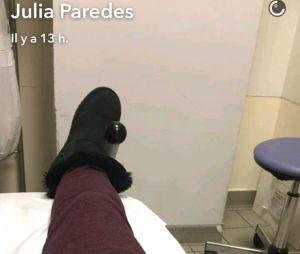 Julia Paredes hospitalisée avant la naissance de sa fille