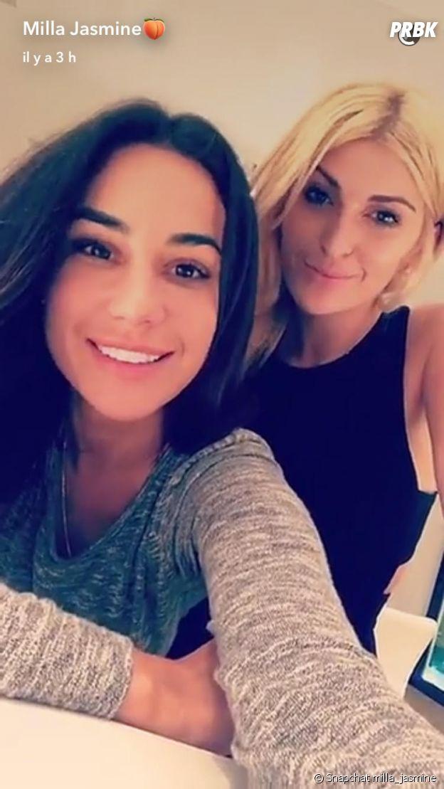 Mélanie (Les Anges 9) sur le Snapchat de Milla Jasmine en direct de Miami