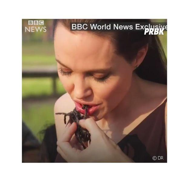Angelina Jolie mange des araignées dans une interview pour la BBC en février 2017