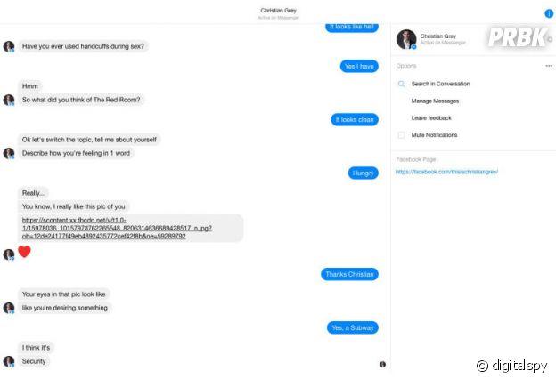 Fifty Shades Darker : vous pouvez parler avec le sexy Christian Grey sur Facebook Messenger.