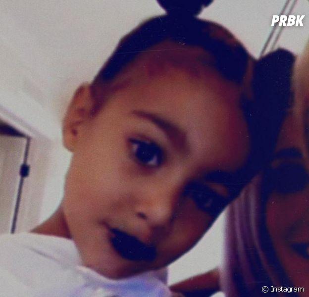 North West (3 ans) maquillée par sa mère Kim Kardashian : les internautes sont choqués !