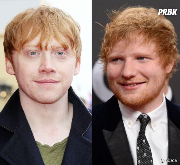 """Rupert Grint et Ed Sheeran : beaucoup de gens confondent l'acteur de Harry Potter et le chanteur de """"Shape of you"""" !"""