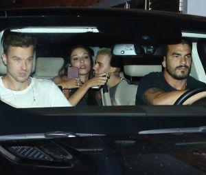 Justin Bieber et Luciana Chamon très proches lors d'une soirée à Rio de Janeiro le 30 mars 2017