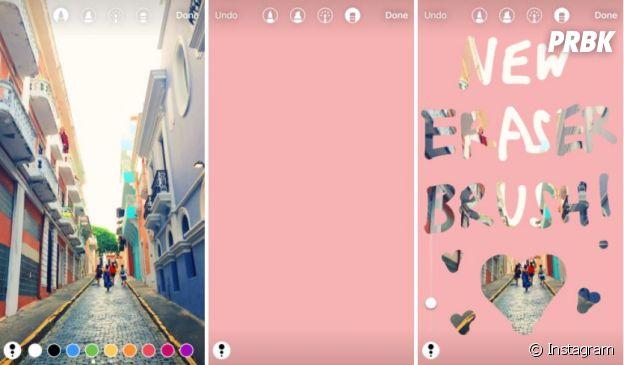 Instagram : la gomme magique se développe