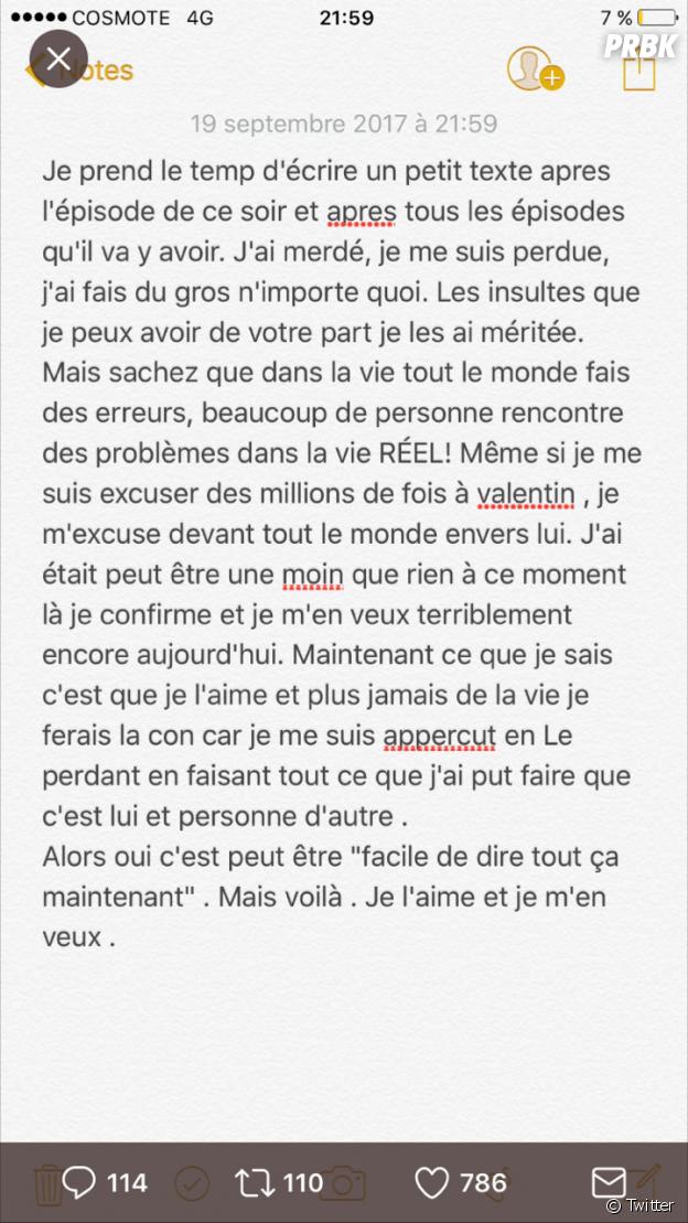 Jessy (Les Marseillais VS Le reste du monde) réagit à son comportement avec Valentin Leonard