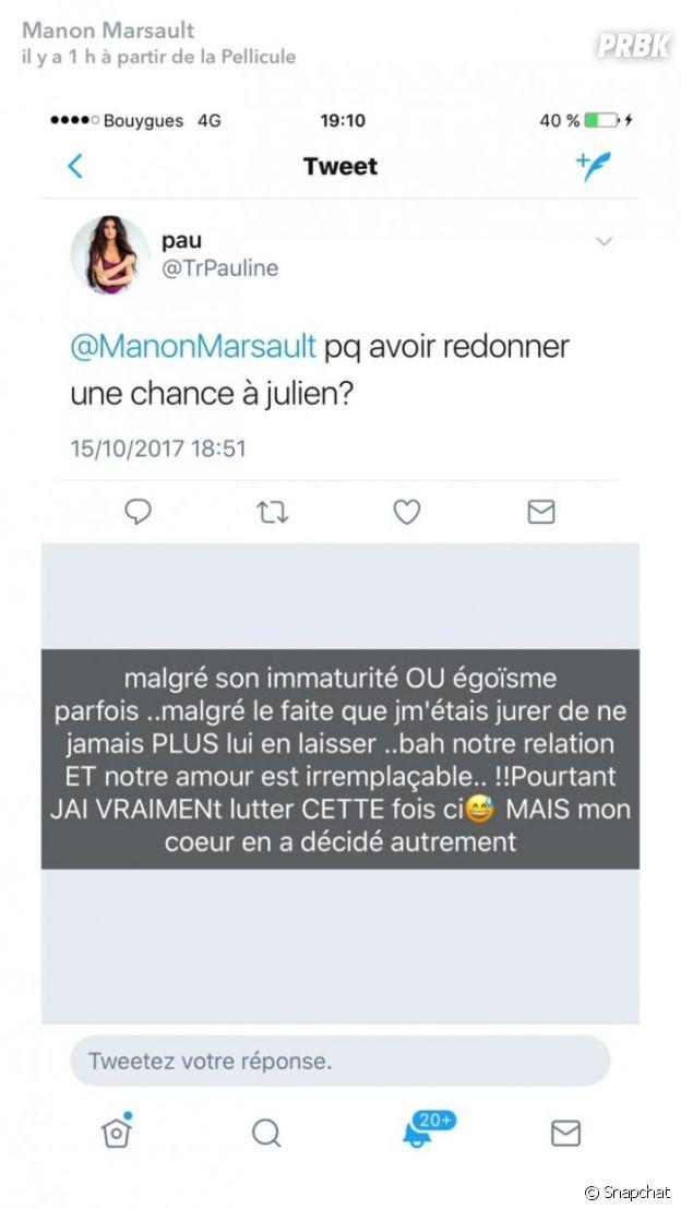 Manon Marsault de nouveau en couple avec Julien Tanti, elle explique pourquoi et clashe Jessica Thivenin