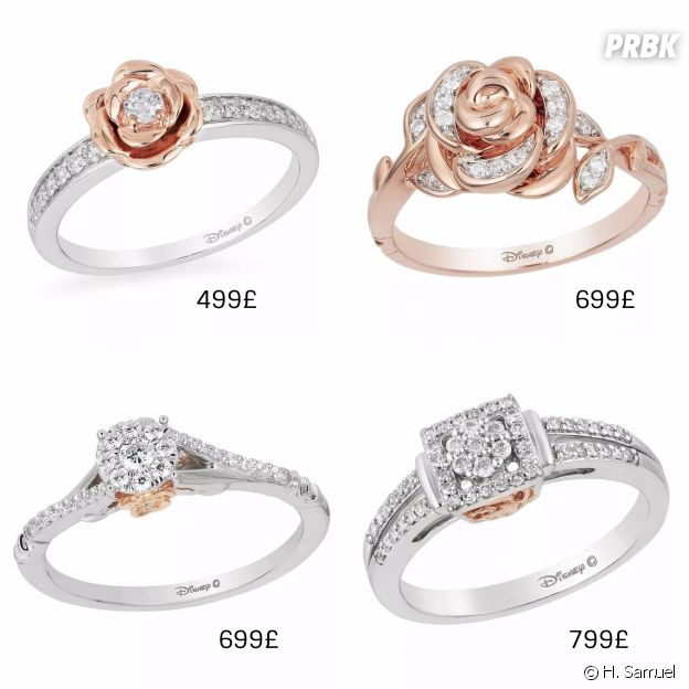 Bague de princesse disney