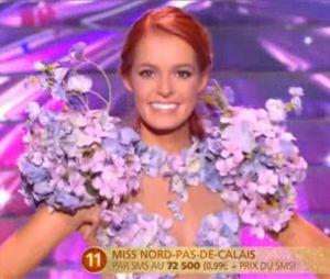 Maëva Coucke lors de l'élection de Miss France 2018