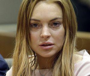Lindsay Lohan lors d'une séance au tribunal en 2012