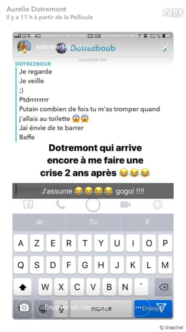 Aurélie Dotremont (Les Princes et les princesses de l'amour) se moque de son ex Julien Bert