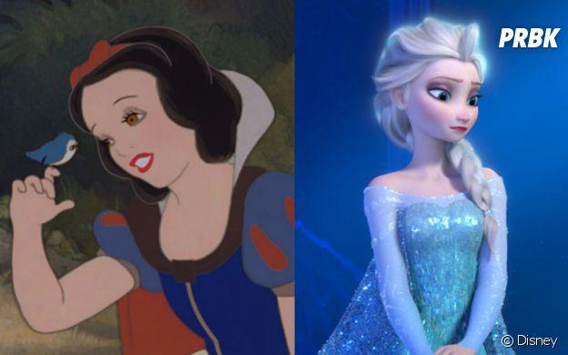 Blanche Neige est la princesse la plus jeune et Elsa la plus âgée