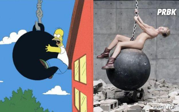 Les Simpson ont prédit le clip de Wrecking Ball de Miley Cyrus