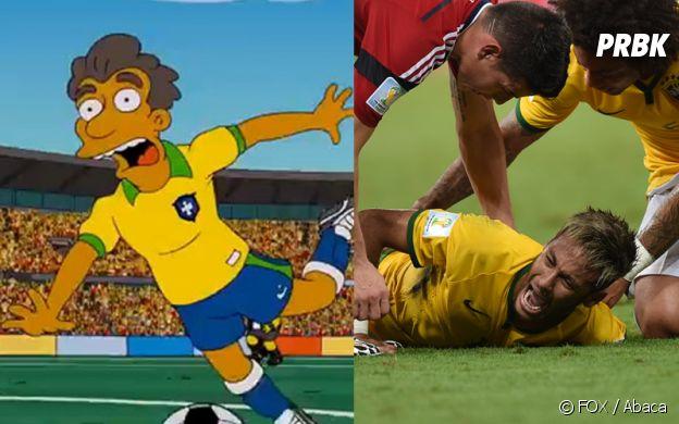 Les Simpson ont prédit la blessure de Neymar au Mondial 2014