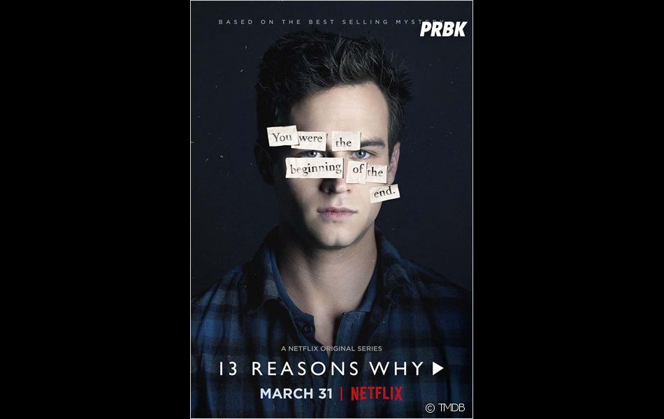 Brandon Flynn sur une affiche de la saison 1 de 13 Reasons Why