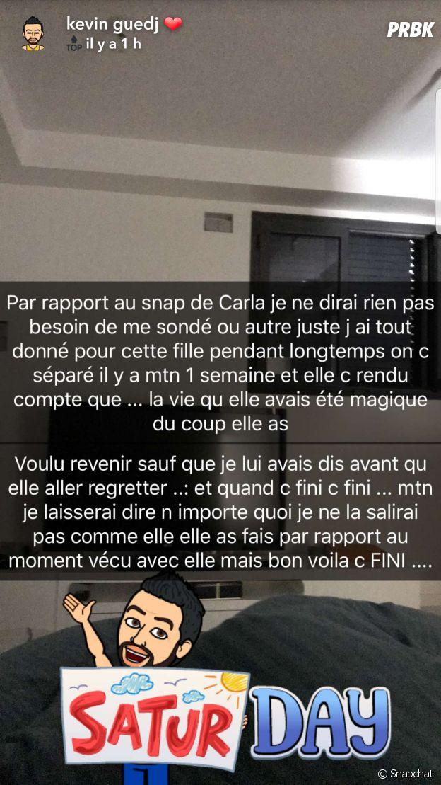 """Kevin Guedj sur sa rupture avec Carla Moreau : """"c'est terminé depuis une semaine déjà"""""""