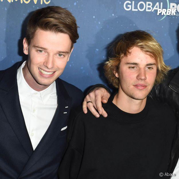 Justin Bieber et Patrick Schwarzenegger à l'avant-première de Midnight Sun. L'acteur aurait fait rencontrer Baskin Champion au chanteur ce soir là.