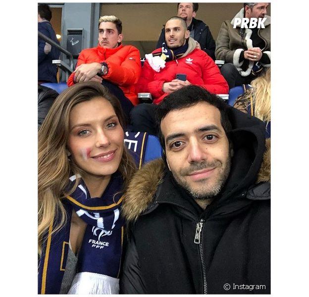 Tarek Boudali et Camille Cerf au match France/Colombie le 23 mars